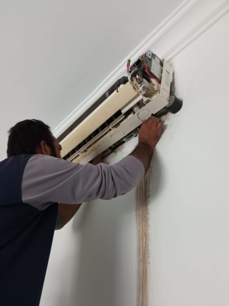 fixing the water leakage