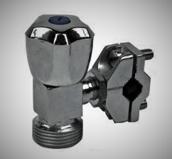 The water inlet and outlet connections necessary for washing machine Installation